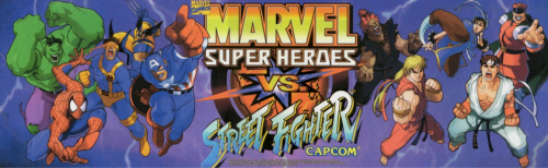 Marvel Super Heroes Vs. Street Fighter (Euro 970625) Marquee