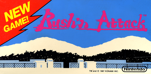 Rush'n Attack (PlayChoice-10) Marquee