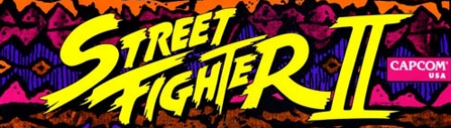 Street Fighter II: The World Warrior (World 910522) Marquee