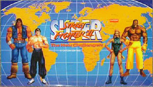 Super Street Fighter II: The New Challengers (Asia 930914) Marquee