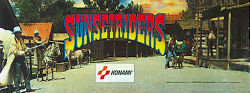 Sunset Riders (4 Players ver EAC) Marquee