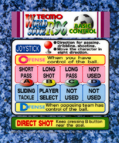 Tecmo World Soccer '96 Marquee