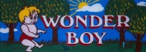 Wonder Boy (prototype?) Marquee