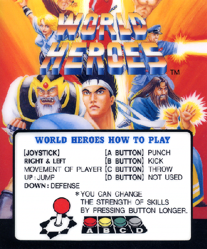 World Heroes (ALM-005) Marquee