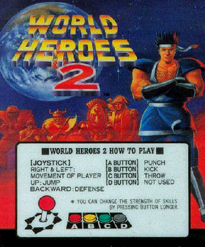 World Heroes 2 Marquee