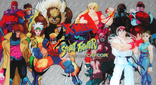 X-Men Vs. Street Fighter (Euro 961004) Marquee