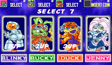 Bucky O'Hare (ver EAB) select screen