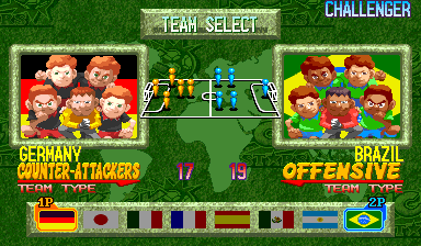 Capcom Sports Club (Euro 971017) select screen