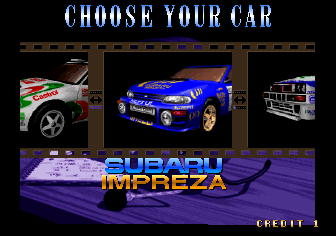 Drift Out '94 - The Hard Order (Japan) select screen