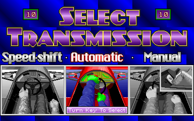 Driver's Edge select screen