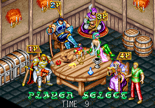 Dungeon Magic (Ver 2.1O 1994/02/18) select screen