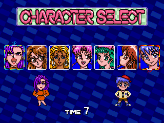Gals Panic 4 (Japan) select screen