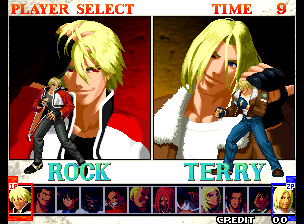 Garou - Mark of the Wolves (NGM-2530) select screen