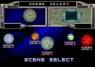 Galaxy Force 2 select screen