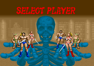 Golden Axe (set 6, US) (8751 317-123A) select screen