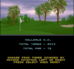 Golden Par Golf (Joystick, V1.1) select screen