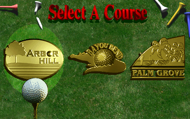 Golden Tee '98 (v1.10) select screen