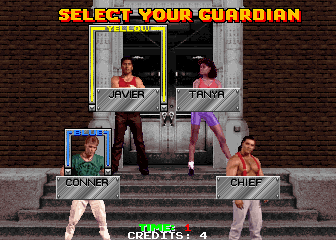 Guardians of the 'Hood select screen