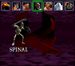 Killer Instinct (SNES bootleg) select screen
