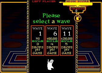 Klax (set 1) select screen