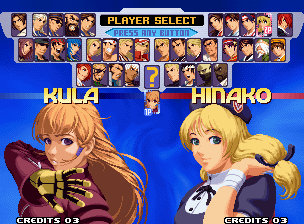 The King of Fighters 2000 select screen