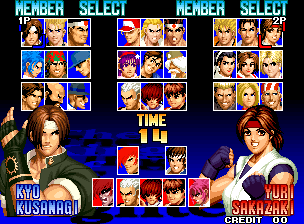 The King of Fighters '97 (Set 1) select screen