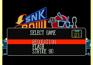 League Bowling (NGM-019 ~ NGH-019) select screen