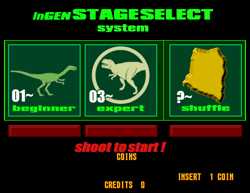 The Lost World (Japan, Revision A) select screen