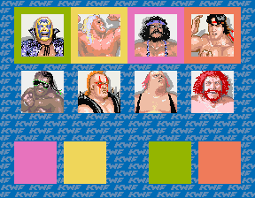 The Main Event (4 Players ver. Y) select screen