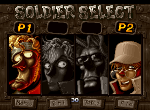 Metal Slug 3 (NGM-2560) select screen