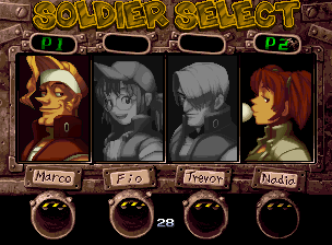 Metal Slug 4 select screen