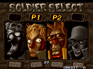 Metal Slug X: Super Vehicle-001 select screen