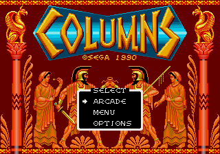 Columns (Mega-Tech) select screen