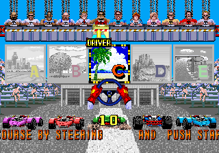 Power Drift (World, Rev A) select screen