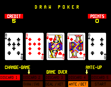 Four In One Poker select screen