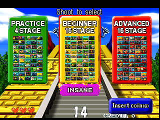 Point Blank 2 (GNB5/VER.A) select screen