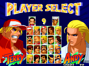 Real Bout Fatal Fury 2: The Newcomers / Real Bout Garous Densetsu 2: The Newcomers (Set 1) select screen