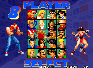Real Bout Fatal Fury Special / Real Bout Garou Densetsu Special select screen