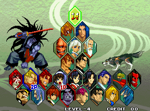 Samurai Shodown V / Samurai Spirits Zero (Set 1) select screen