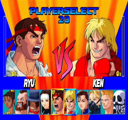 Street Fighter EX (Euro 961219) select screen