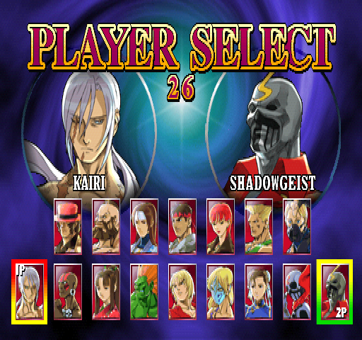 Street Fighter EX2 (USA 980526) select screen