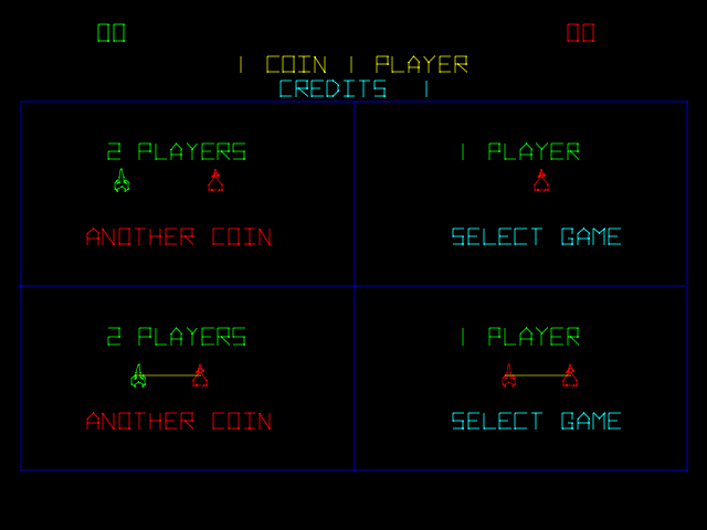 Space Duel (version 2) select screen