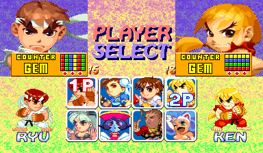 Super Puzzle Fighter II Turbo (Euro 960529) select screen