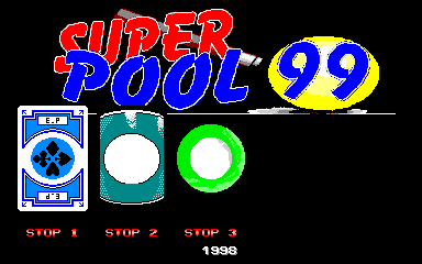 Super Pool 99 (Version 0.36) select screen