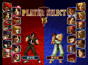 SNK vs. Capcom: SVC Chaos select screen