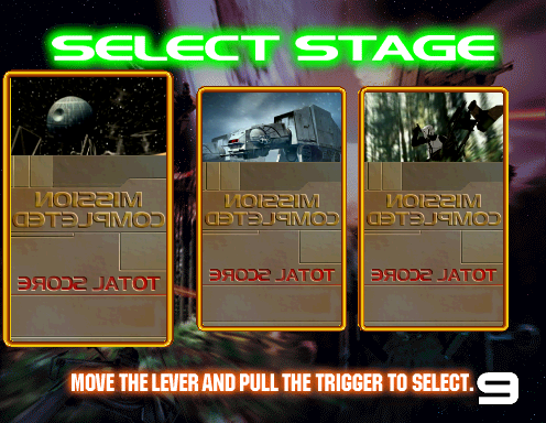 Star Wars Trilogy (Revision A) select screen