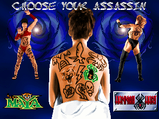 Tattoo Assassins (US prototype) select screen