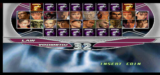 Tekken Tag Tournament (US, TEG3/VER.C1) select screen