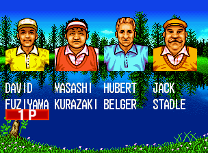 Top Player's Golf (NGM-003 ~ NGH-003) select screen