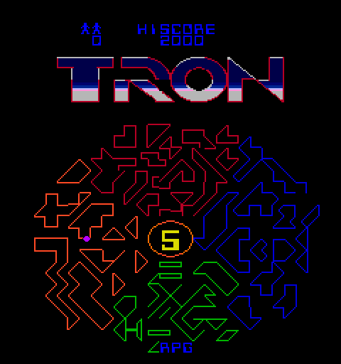 Tron (8/9) select screen